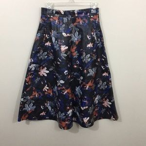 Zara Skirts - Zara leather printed effect skirt
